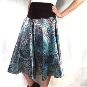 Dresses & Skirts - Satin A-Line Skirt With Stretchy Waist